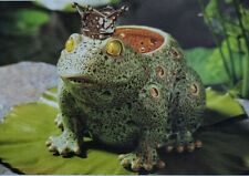 PartyLite Frog Prince Votive Holder Reactive Glaze Ceramic Brand New in Box Nib
