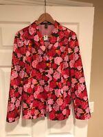 Linda Allard for Ellen Tracy Pink & Red Floral Print Blazer, Size 6, NWT! $398