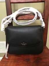 Kate spade Jackson Medium Flap Shoulder Bag Black color new with Tags