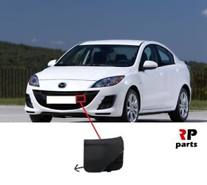 FOR MAZDA 3 2009 - 2012 NEW FRONT BUMPER TOW HOOK EYE COVER CAP FOR PAINTING