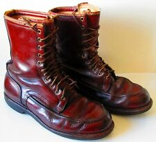 Vintage 30's 40's Wolverine Horsehide Leather Shell Boots Sz10? Men's Work Sport