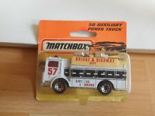 Matchbox Mack Auxiliary Power Truck in White on Blister