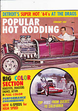 Popular Hot Rodding magazine - USA - February 1964