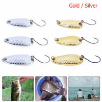 Well Spoons Hard Fishing Lures Metal Hook Glitter Sequins Lure Baits Pack of 3