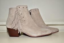 Sam Edelman Rudie Suede Studded Fringe Boots Women's 10 M