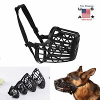 Large Pet Puppy Dog Basket Muzzle Mouth Cover Mesh Cage NoBarking Biting Chewing