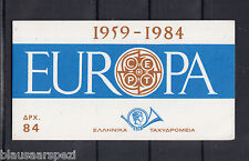 6000 )  Griechenland  MH ** / MNH  - Europa Cept  / Europa 1984: 25 Jahre CEPT