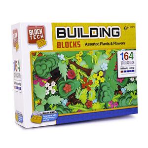 Block Tech Building Blocks Assorted Plants & Flowers 164 Pieces Children's Toy