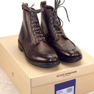 * NIB * $475 Allen Edmonds RAINIER BOOT 8 D Brown * new Shoe Trees Bags