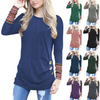 Women Autumn Blouse Shirt Tops Long Sleeve Loose Jumper Pullover Tunic T-Shirts