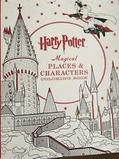 New Harry Potter Magical Places Characters Coloring Book