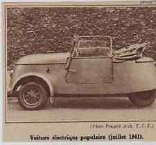 1941  --  NOUVELLE VOITURE ELECTRIQUE POPULAIRE   JUILLET 1941   3C746