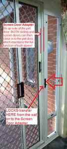 Sliding Door Pet Door insert panel & Screen Adapter! - M- $299 FREE DELIVERY*