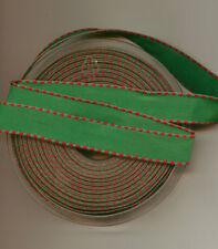 ** vert et rouge-Ruban - 15mm de large **