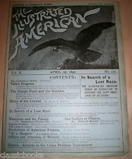Illustrated American Magazine 1892 April 2nd MUSEUM FILED FN