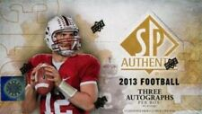 2013 Upper Deck SP Authentic Football Factory Sealed Hobby Box - 3 Autos per Box
