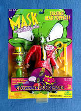 "CLOWN AROUND MASK TALKING HEAD POPPERS THE MASK JIM CARREY 8"" FIGURE TOY ISLAND"