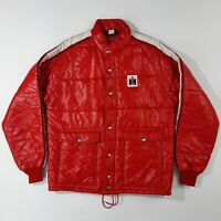 Vintage IH International Harvester Swingster Puffer Jacket Men's Size L Red