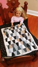 Handmade   Doll quilt for 18 inch dolls   Snowman Gathering fabric collection