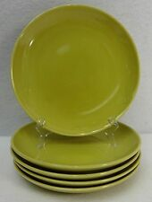 IROQUOIS china CASUAL Avocado Yellow Bread Plate - Set of Five (5) - 6-1/2""