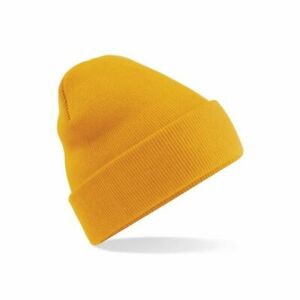 BEECHFIELD ORIGINAL PULL-ON CUFFED BEANIE One Size Soft Touch Hat 60 Colours