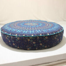 Indian Mandala Round Floor Cushion Cotton Pouf Seating Decorative Cover Pet Bed