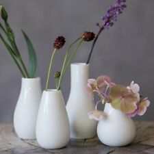 Rader MINI VASE Set of 4 Flower Pots WHITE Ceramic