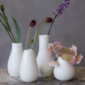 Rader MINI VASE Set of 4 Flower Pots WHITE Ceramic Räder
