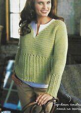 Weekend Pullover Sweater 5 Sizes Women'S Crochet Pattern Instructions