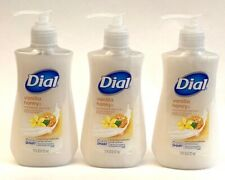 3 Bottles Dial Moisturizing Liquid Hand Soap Vanilla Honey Scent 7.5 fl oz Each