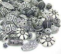 50g Tibet Antik Kunststoffperlen Gemisht Schmuck Acryl Zwischenperlen BEST D121