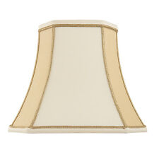 Endon Camilla lampshade 10 inch Two-tone cream faux silk 225mm H x 255mm D max