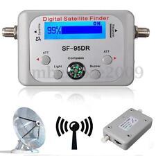 LCD Digital Satellite Signal Finder Satfinder Sat Direc TV FTA Dish w/ Compass K