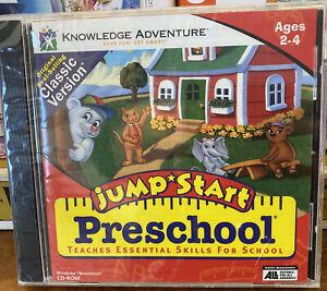 Jumpstart Preschool for ages 2 - 4 years New Sealed CD-ROM windows Apple MAC