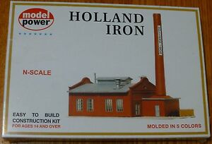 "Model Power N #1546 Building Kit - Holland Iron & Steel Works 6 x 3"" 15 x 7.5cm"