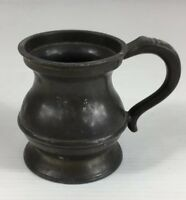 Antique Pewter 1/2 Gill Measure 6cm In Height