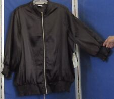 NWT Trendy JAMIE NICOLE Zip Front TOP Jacket w/.Elastic HEM & SLEEVE Black 18