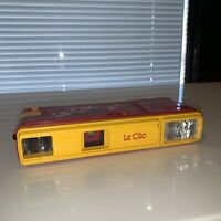 Vintage 1980s Yellow Le Clic Pocket Camera 110 Film As-Is Parts