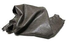 Italian Lambskin leather skin skins WASHED OLIVE BROWN ANTIQUED 5sqf