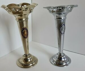 British Empire Exhibition 1924 Souvenir Pair of Candle Holders (not matching)