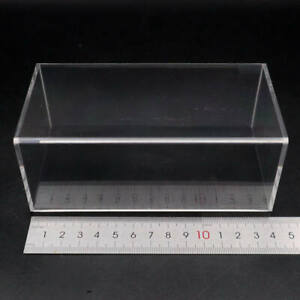 Lot of Size Model Car Acrylic Display Transparent Dust Proof Box with Black Base