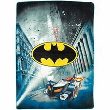"Dc Comics Batman Logo Blanket Oversized Heavy 62""x90""  Throw Justice League"
