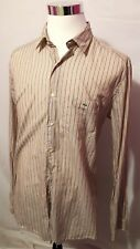 LACOSTE Mens Multi Color Stripe Long Sleeve Button Front Shirt SZ 44 (C3)