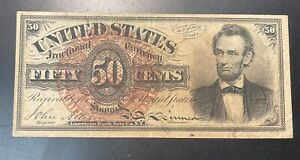 Immensely Popular Lincoln 50c Fractional Note -  NO RESERVE