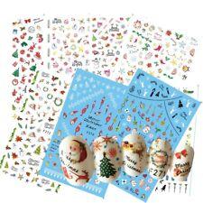 F271 F280 Adesivi unghie NATALE NOEL CHRISTMAS WEIHNACHTEN Stickers nail ART