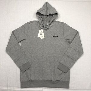 NEW Adidas Sweater Adult Large Gray Black Hoodie Sweatshirt Pullover Casual Mens