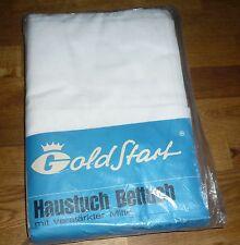 2 alte Bettlaken / Betttücher  Weiss  Baumwolle    Vintage  UNBENUTZT