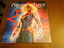 2019 Disney D23 Spring Magazine Captain Marvel + Poster + D23 10 Year Patch New