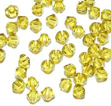 SCB3139 LIME Yellow-Green 4mm Xilion Faceted Bicone Swarovski Crystal Bead 48/pk