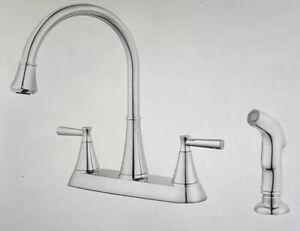 Pfister Cantara High-Arc 2-Handle Standard Kitchen Faucet with Side Sprayer